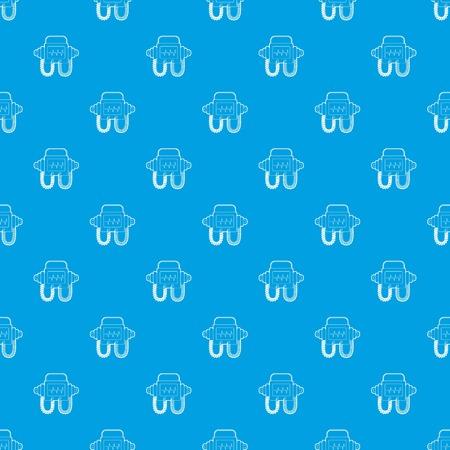 Defibrillator pattern seamless blue Stock Photo