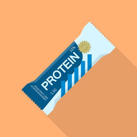 Protein bar icon, flat style
