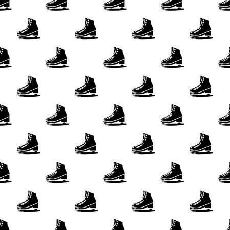 Skates icon, simple black style