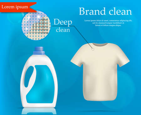 Brand wash clean concept background, realistic style