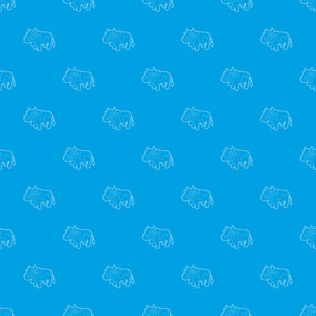 Cow pattern seamless blue