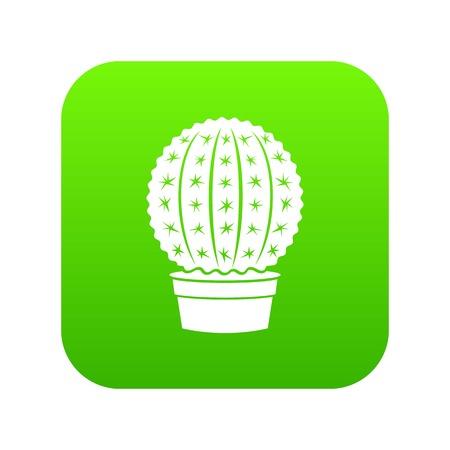 Echinocactus icon green Stock Photo