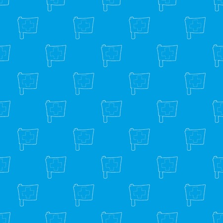 Switzerland flag pattern seamless blue Banque d'images