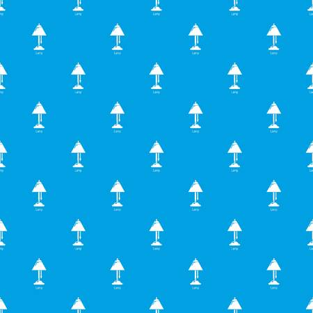 Lamp pattern vector seamless blue repeat for any use