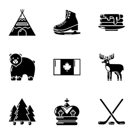 Expanse icons set. Simple set of 9 expanse vector icons for web isolated on white background Ilustração