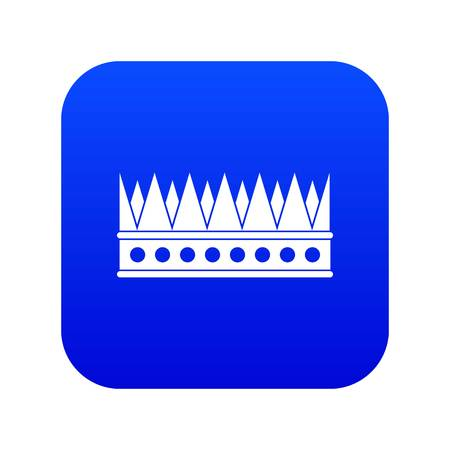 Regal crown icon digital blue