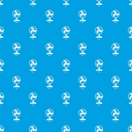 Fan pattern vector seamless blue repeat for any use