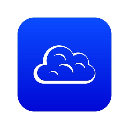 Big cloud icon digital blue Illusztráció