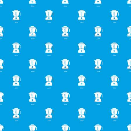Juicer pattern vector seamless blue repeat for any use