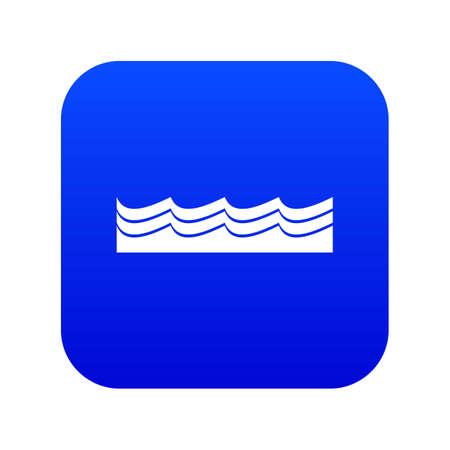 Water icon digital blue