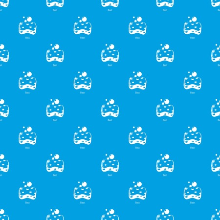 Bast pattern vector seamless blue repeat for any use