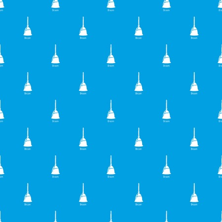 Broom pattern vector seamless blue repeat for any use 向量圖像