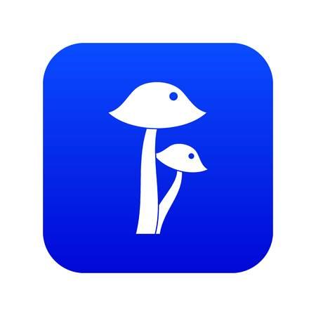 Honey fungus icon digital blue Illustration