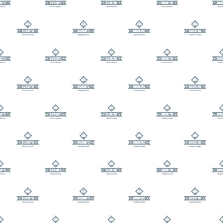 Burrito pattern vector seamless Иллюстрация