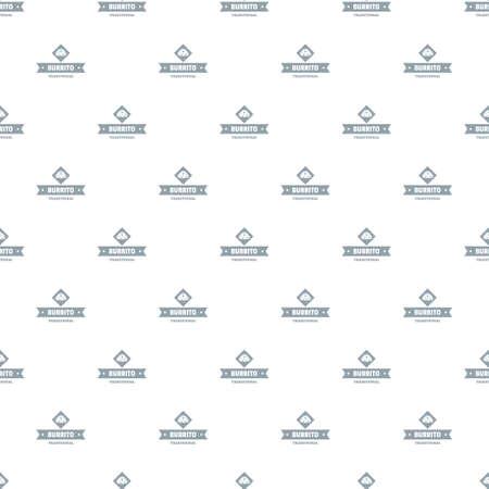 Burrito pattern vector seamless Illustration