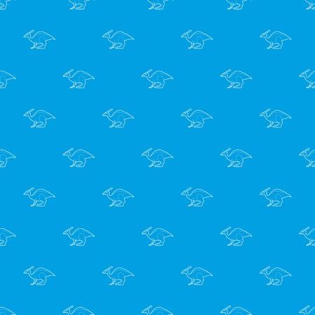 Parasaurolof pattern vector seamless blue