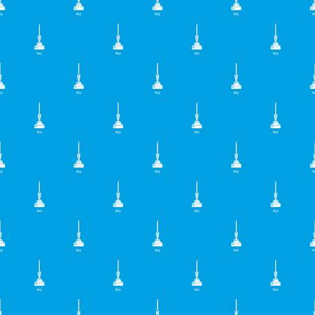 Mop pattern vector seamless blue repeat for any use