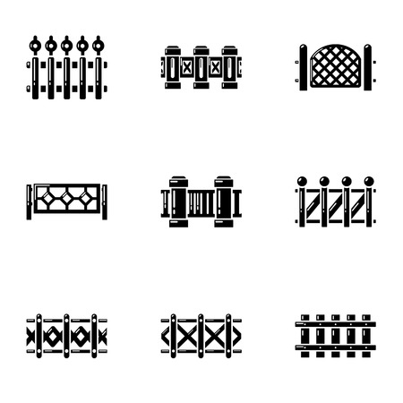 Paddock icons set, simple style