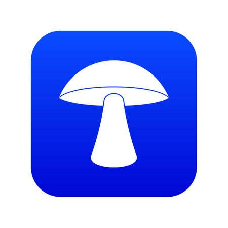 Birch mushroom icon digital blue