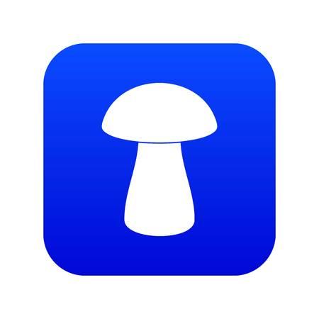 Fungus boletus icon digital blue
