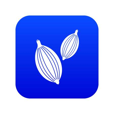 Cardamom pods icon digital blue for any design isolated on white vector illustration