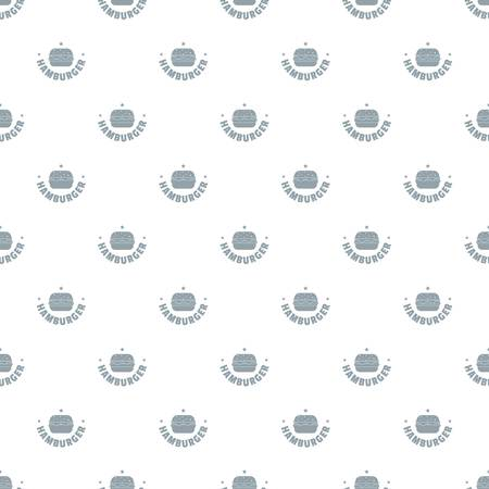 Hamburger pattern vector seamless