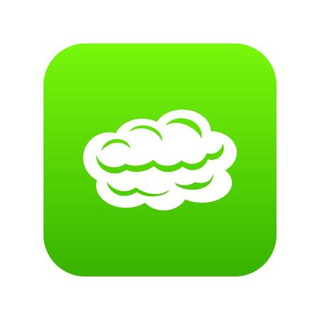Technology cloud icon green vector isolated on white background