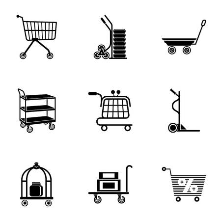 Wholesale icons set. Simple set of 9 wholesale vector icons for web isolated on white background Illustration