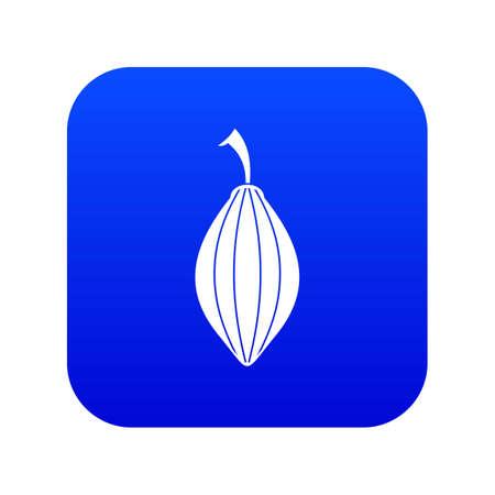 Black cardamom pod icon digital blue for any design isolated on white vector illustration Illustration