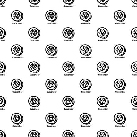 Cucumber pattern vector seamless repeating for any web design