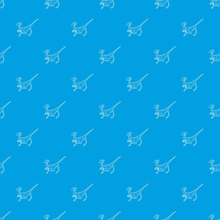 Velociraptor pattern vector seamless blue