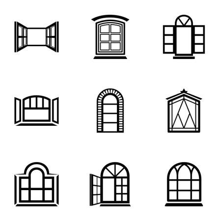 Ventilate icons set, simple style