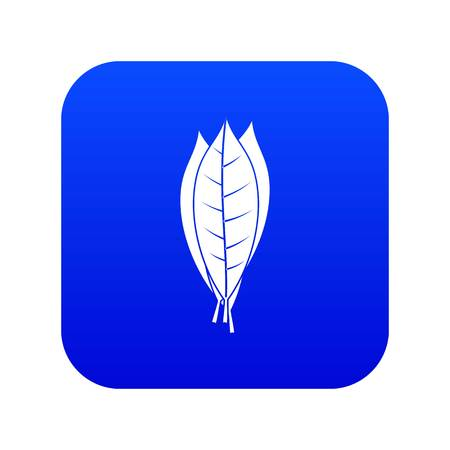 Culinary bay leaves icon digital blue for any design isolated on white vector illustration