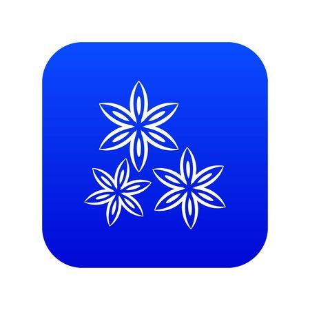 Sternanis-Symbol digital blau für jedes Design isoliert auf weißer Vektorillustration