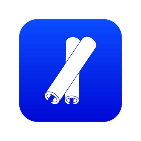 Cinnamon sticks icon digital blue for any design isolated on white vector illustration
