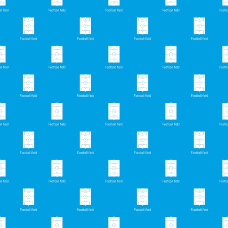 Football field pattern vector seamless blue repeat for any use Standard-Bild - 127509642