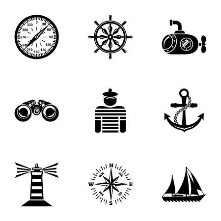 Captaincy icons set. Simple set of 9 captaincy vector icons for web isolated on white background Stock Illustratie