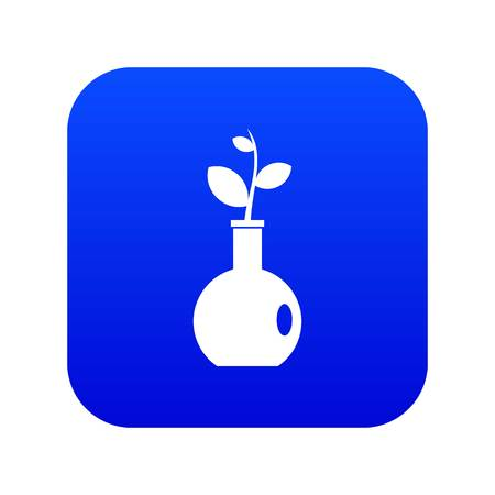 Plant in a vase icon digital blue for any design isolated on white vector illustration