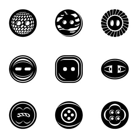 Fasten icons set. Simple set of 9 fasten vector icons for web isolated on white background