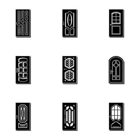 Portal icons set, simple style