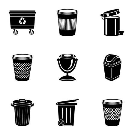 Basket icons set. Simple set of 9 basket vector icons for web isolated on white background 写真素材 - 127509675