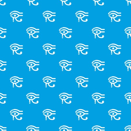 Eye horus pattern vector seamless blue repeat for any use 向量圖像