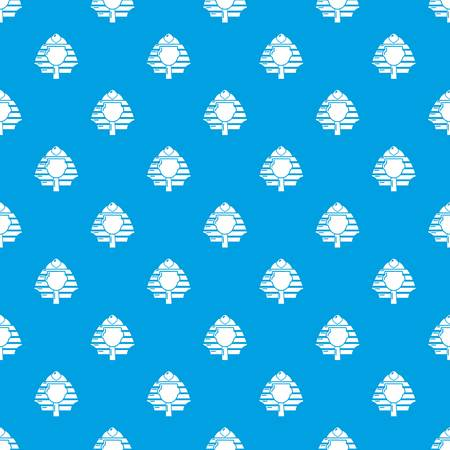 Pharaoh pattern vector seamless blue repeat for any use 向量圖像