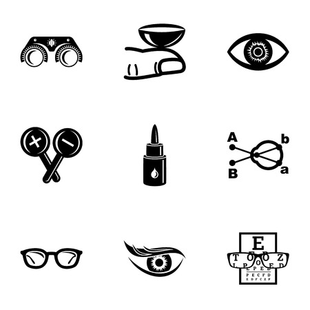 Sight icons set. Simple set of 9 sight vector icons for web isolated on white background