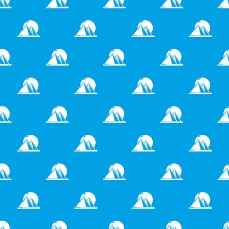 Pyramid egypt pattern vector seamless blue