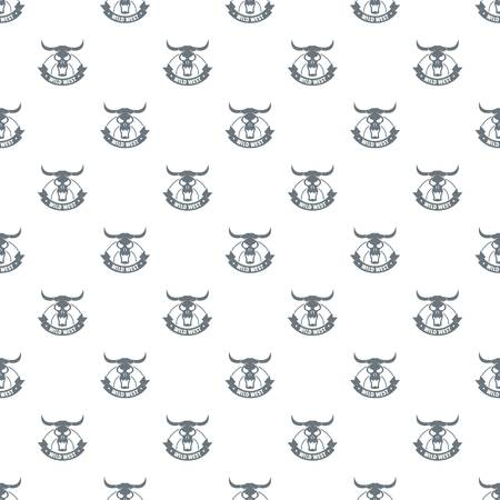 Wild west pattern vector seamless