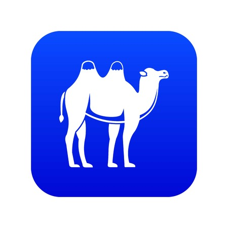 Camel icon digital blue for any design isolated on white vector illustration Illustration