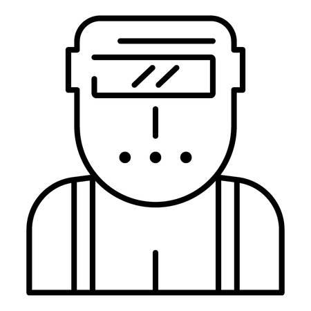 Welder worker icon, outline style