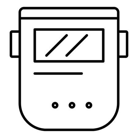 Welder mask icon. Outline welder mask vector icon for web design isolated on white background Illustration