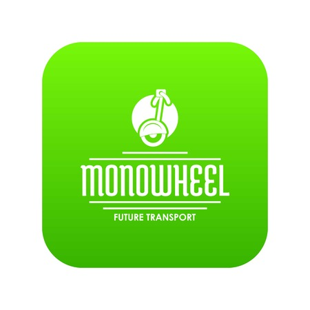 Personal mono wheel icon green vector